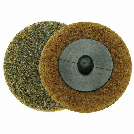 "Superior Pads and Abrasives SD2C 2"" ROLL-ON/ROLL-OFF Style Surface Conditioning Sanding Disc (Tan / Coarse)"