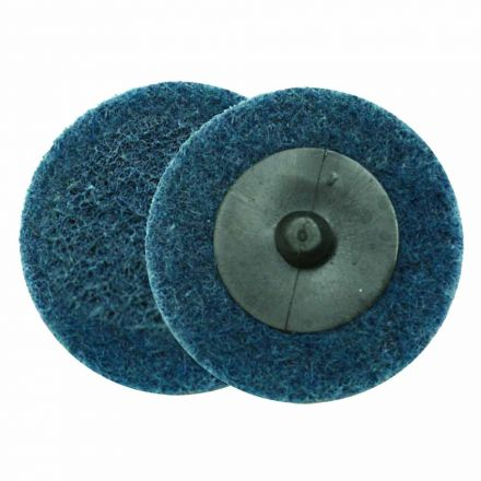 "Superior Pads and Abrasives SD2F 2"" ROLL-ON/ROLL-OFF Style Surface Conditioning Sanding Disc (Blue / Fine)"