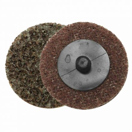 "Superior Pads and Abrasives SD2M 2"" ROLL-ON/ROLL-OFF Style Surface Conditioning Sanding Disc (Maroon / Medium)"