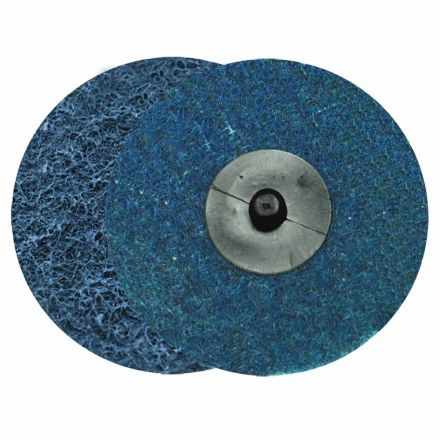 "Superior Pads and Abrasives SD3F 3"" ROLL-ON/ROLL-OFF Style Surface Conditioning Sanding Disc (Blue / Fine)"