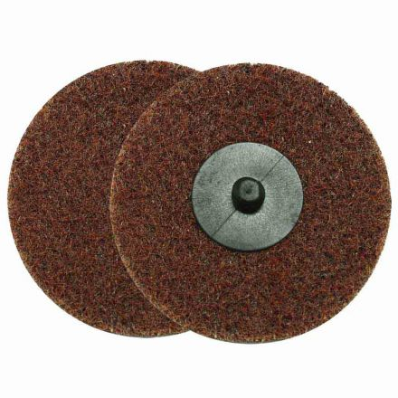 "Superior Pads and Abrasives SD3M 3"" ROLL-ON/ROLL-OFF Style Surface Conditioning Sanding Disc (Maroon / Medium)"