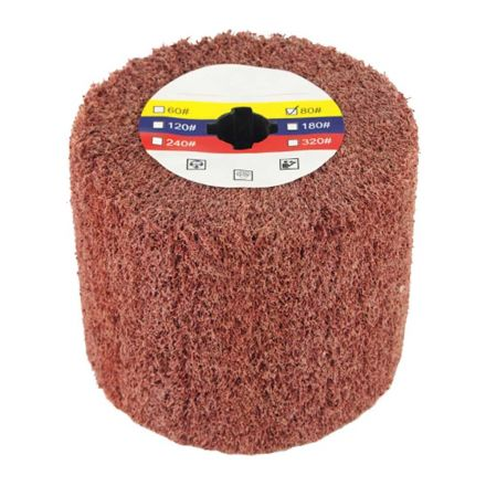 Superior Pads and Abrasives AW-80 Elastic Grain Coated Non Woven Nylon Web Wheel - 80 Grit