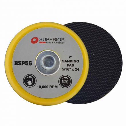 Superior Pads and Abrasives RSP56 2 Inch Hook & Loop Sanding Pad with 5/16 Inch-24 Threads