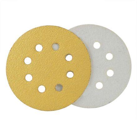 Superior Pads and Abrasives SD589P 240 Grit 5 Inch Diameter 8-Holes PSA Sanding Paper - 25/Pack (Ceramic Aluminum Oxide)