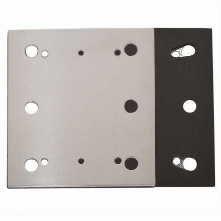 Superior Pads and Abrasives SPD17 1/4 Sheet PSA 6 Holes Stick on Square Sanding Pad Replaces Makita OE # 158324-9