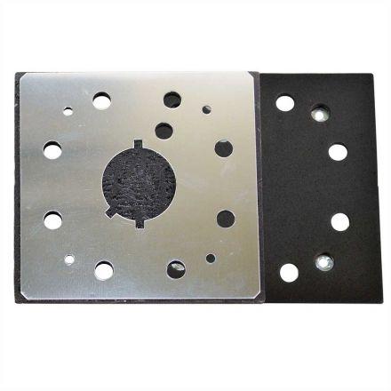 Superior Pads and Abrasives SPD18 1/4 Sheet Sander Pad / Backing Plate 8 Hole Stick on Square Sanding Pad replaces Dewalt 151280-00 & 151284-00SV