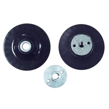 """Superior Pads and Abrasives BP70 7"""" Angle Grinder Backing Pad for Resin Fiber Disc with 5/8""""-11 Locking Nut"""