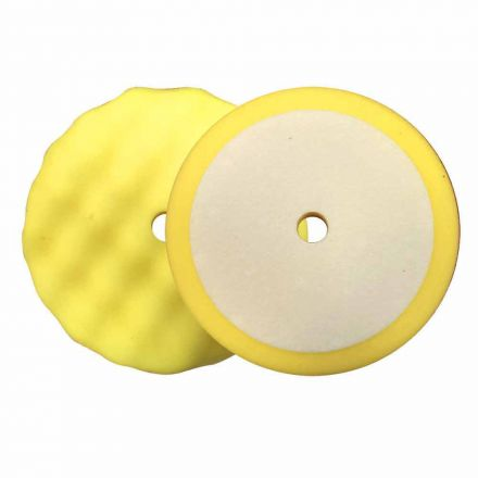 """Superior Pads and Abrasives PCY08 8"""" Buffing Foam Pad for Compounding (Yellow)"""