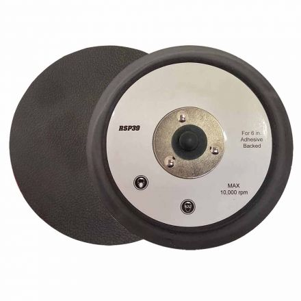 """Superior Pads and Abrasives RSP39 6"""" Dia No Vacuum Holes PSA/Adhesive Backing replaces Porter Cable 16000"""