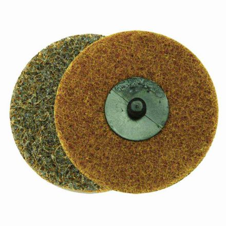 """Superior Pads and Abrasives SD3C 3"""" ROLL-ON/ROLL-OFF Style Surface Conditioning Sanding Disc (Tan / Coarse)"""