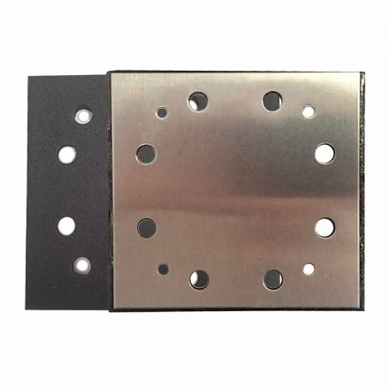 Superior Pads and Abrasives SPD16 1/4 Sheet PSA 8 Holes Stick On Square Sanding Pad Replaces Porter Cable OE # 135292 & 893667